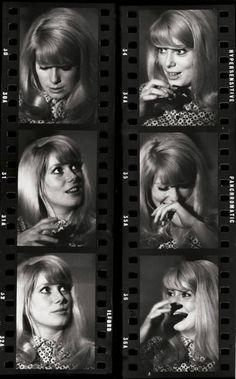 eric swayne | Deneuve at the set of Repulsion 1964