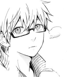 Glasses sketch, anime guys with glasses, hibi chouchou, japanese boy, hot. Anime Guys With Glasses, Hot Anime Guys, Hot Guys, Manga Drawing, Figure Drawing, Glasses Sketch, Hibi Chouchou, Japanese Boy, Black And White Drawing