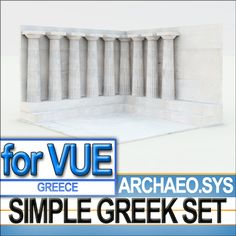 The Simple Greek Environment is a Basic Environment with an open space courtyard and Doric Columns for Ancient Greece Scenes.  Use it with...