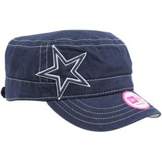 ed5b1c20d8b New Era Dallas Cowboys Ladies Chic Cadet Military Hat - Navy Blue