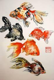 Resultado de imagen para japanese fish painting