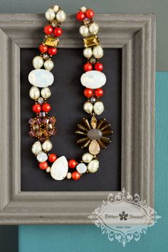Statement necklace by Bitter Sweet Jewellery. #colour #bold #red #stone #crystal #fashion