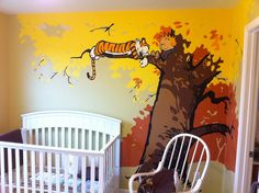 A great example of a mural in a nursery