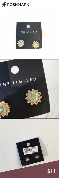 Brand New Gold and Mint Earrings Brand new and unworn earrings by the brand The Limited. Adorable earrings and great for any occasion. The Limited Jewelry Earrings