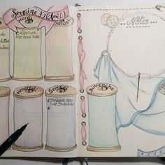 Semaine 31 dans mon bullet journal... #bulletjournal #bujo #bulletjournallove #bulletaddict #polychromos #dessin #intemporellecreation #unipin #organisation #semaine #août #leuchtturm1917 #dessincouture