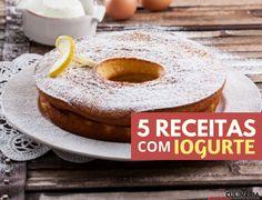 5 receitas com iogurte - Descubra receitas deliciosas, truques, dicas, cursos, o Blog Culinária A-Z e muito mais!