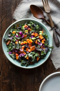 Perfect Winter Chopped Salad with Pumpkin Seed Peppercorn Dressing | The Full Helping - leave off fruit and carrots on strict.