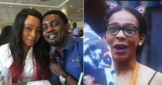 #BBNaija: Comedian AYs Wife Reacts After TBoss Smiled And Stared At Him During His Visit Today
