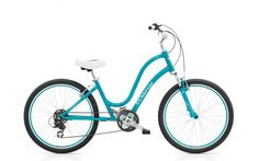 Electra Townie  ORIGINAL 21D  POLISHED BLUE  SHIMANO TOURNEY 21-SPEED ($539 at REI)