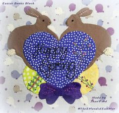 Easter Bunny block applique