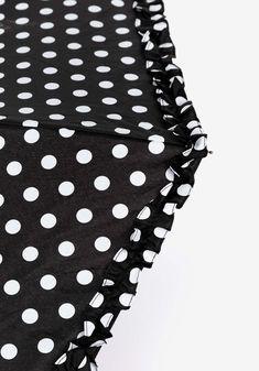 Guarda-chuva Dobrável Bolinhas_70008476000-T/U 98, Polka Dot Top, Women, Fashion, Polka Dot, Rain Fall, Legs, Block Prints, Moda