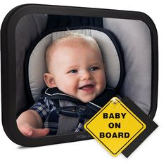 KAKIBLIN Back Mirror for Baby,Shatterproof Rear Facing Infant Distorting Car Mirror Bear Car Seat Mirror