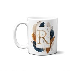 Letter Initial Mug   Personalized Name Letter Mugs, Name Mugs, Alphabet Mugs, Monogram Alphabet, Custom Cups, Parent Gifts, Gift For Architect, Personalized Mugs, Thank You Gifts