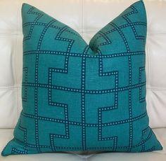 Decorative Designer Pillow Cover  18X18  Schumacher by elegantouch, $80.00