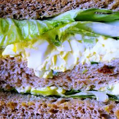 egg salad sandwich. goodnessness.