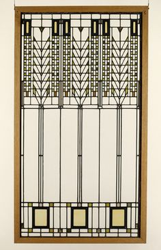"""Tree of Life"" window - Martin House Buffalo, NY, ca. 1904, Frank Lloyd Wright"