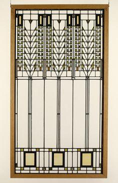 """""""Tree of Life"""" window - Martin House Buffalo, NY, ca. 1904, Frank Lloyd Wright"""