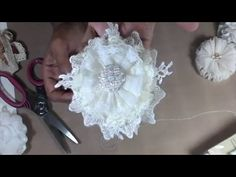 Shabby Chic Flower Tutorial from Our Strawberry & Cream Kit - YouTube