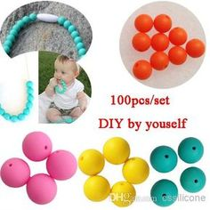 Cheap Silicone Teething Necklac - Wholesale Silicone Teething Necklace Beads Diy Jewelry Online