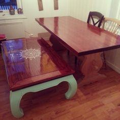 Tables mint mandala mahogny diy