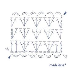 かぎ針編みのストール・編み図 の画像|madeleine's blog