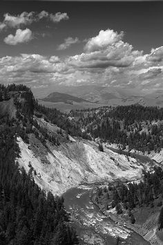 Yellowstone River - photograph by Mark McKinney. Fine art prints and posters for sale. #markmckinney #blackandwhitephotography#landscapephotography