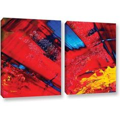 ArtWall Byron May Passionate Explosion 2-Piece Gallery-Wrapped Canvas Set, Size: 24 x 36, Blue