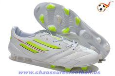 brand new b17b7 f4ffa 2014 World Cup adidas f50 adizero Metallic TRX FG Cuir Blanc FT8400