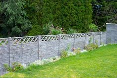 Simulated Stone Fence 3' Panels Vinyl Fence Alternatives