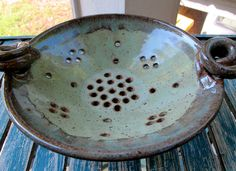 Turquoise Berry Bowl Colander.