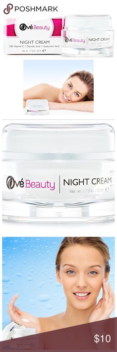HYALURONIC GLYCOLIC VITAMIN C ORGANIC CREAM Ové Beauty Night Moisturizing Cream for Face, Neck & Eye Area Firming Anti-Wrinkle Cream. PREMIUM skincare repair with proven ingredients that fight wrinkles while moisturizing and rejuvenating your skin. 5% VITAMIN C, GLYCOLIC ACID & HYALURONIC ACID. Can be used day or night. NATURAL ORGANIC PURE ingredients that HEAL sun damage, hyper-pigmentation, age spots & deep wrinkles while you sleep with the non greasy & creamy texture of our luxurious…