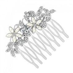 Mood Pearl and crystal floral hair comb- at Debenhams Mobile