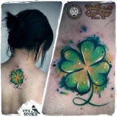 watercolor clover tattoo - Buscar con Google