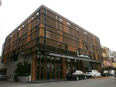 Resysta Louver for coffee shop in Malaysia #resysta