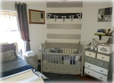 Crib Cot Linen In Shades Of Grey White Navy Designed By Tula Tu Baby Nursery With Deer Theme