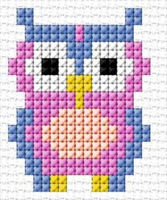 Wonderful Photo Cross Stitch owl Popular Given that I've been cross punch stitches because I became a lady My spouse and i sometimes suppose that ev Tiny Cross Stitch, Cross Stitch Bookmarks, Cross Stitch Cards, Cross Stitch Designs, Cross Stitching, Cross Stitch Embroidery, Cross Stitch Patterns, Loom Patterns, Embroidery Patterns
