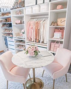 Room Ideas Bedroom, Bedroom Decor, Pink Closet, Wardrobe Room, Dressing Room Design, Glam Room, Closet Designs, Beauty Room, Room Inspiration