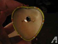 14K Gold Sapphire/Diamond ring - $200 (West Side)