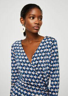 Geometric print dress | MANGO
