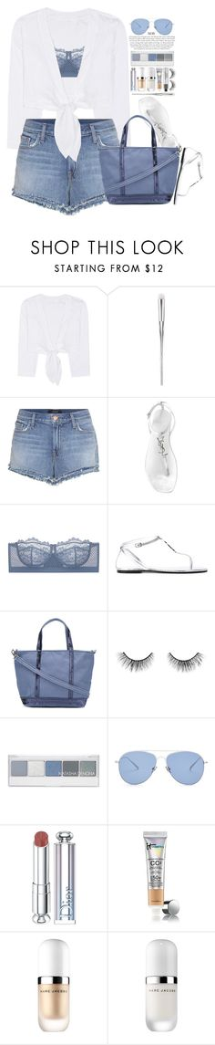 """""""Shades Of Cool"""" by hollowpoint-smile ❤ liked on Polyvore featuring Lisa Marie Fernandez, J Brand, Yves Saint Laurent, Vanessa Bruno, tarte, Kaleos, Christian Dior, CC and Marc Jacobs"""