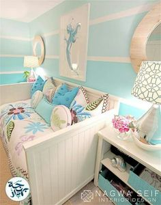 Mermaid Bedroom for craft room. I already have the day bed!) Mermaid Bedroom for craft room. I already have the day bed! Coastal Bedrooms, Coastal Living, Kid Bedrooms, Bedroom Themes, Bedroom Ideas, Bedroom Colors, Bedroom Inspiration, Nursery Ideas, Little Girl Rooms