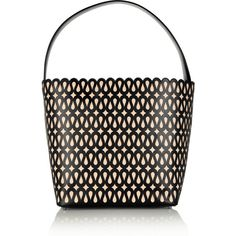 Alaïa Perforated leather tote ($1,315) ❤ liked on Polyvore