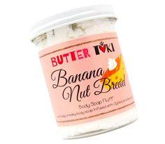 BANANA NUT BREAD Whipped Body Soap Fluff 8oz
