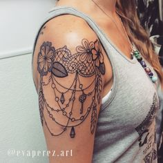 Lace tattoo idea                                                                                                                                                      More