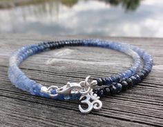 "edles Saphir-Armband ""OM"" von Bettis Buddha-Bänder       auf DaWanda.com"