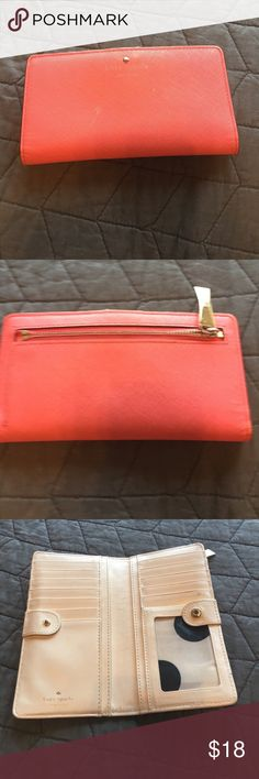 Kate Spade wallet Kate Spade wallet. Coral. Has some small blemishes but not too bad kate spade Bags Wallets