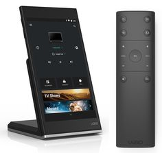 VIZIO P-Series tablet remote, wireless charging station, and IR Remote