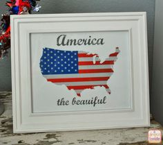 "A Glimpse Inside: ""America the Beautiful"" Printable"