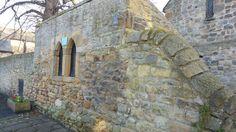 Boundary wall of St Andrew's Church, Corbridge, Northumberland