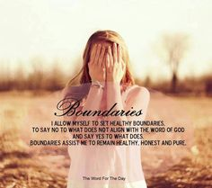 Boundaries are important for families and in relationships